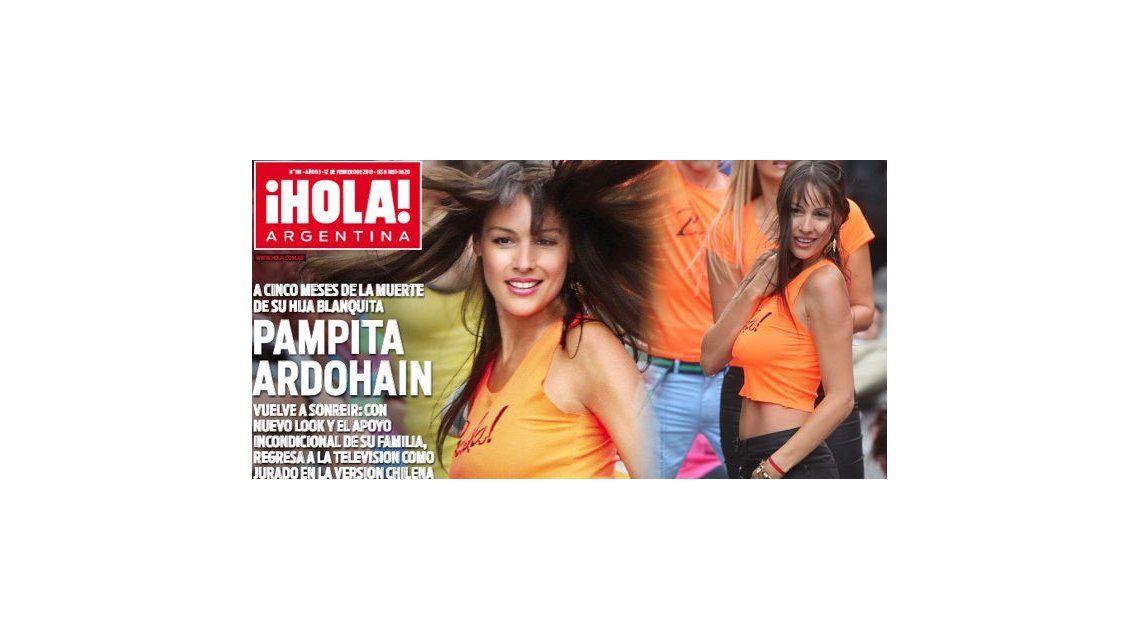 La vuelta de Pampita, tapa de revista Hola!