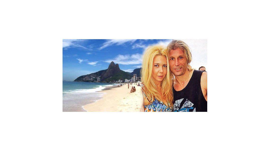 Mariana Nannis y Claudio Caniggia lejos de sus hijos y de los escándalos