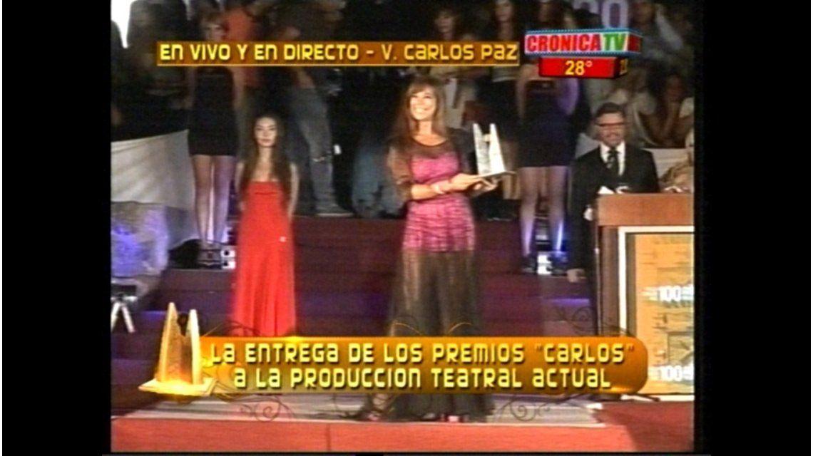 Se entregaron los Premios Carlos: sorprendida, Nazarena Vélez fue de oro
