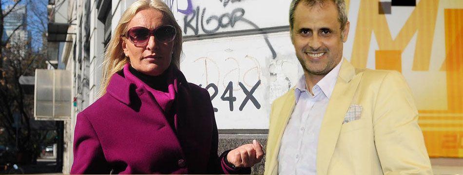 Allanamiento a Silvia D´Auro, ex de Rial: escándalo en las puertas de su oficina