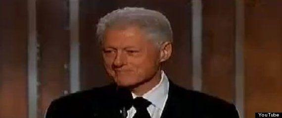 Bill Clinton en los Golden Globe, los premios antesala de los Oscars