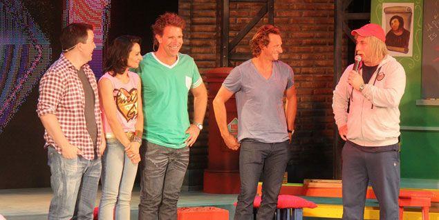 Alejandro Fantino y Gastón Recondo debutaron en Carlos Paz como actores