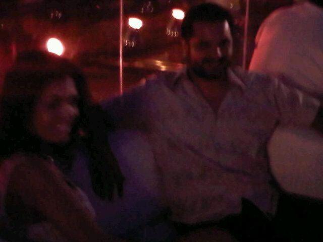 Paola Miranda y Jorge Rojas, en la noche de Carlos Paz juntos