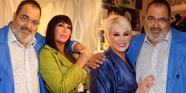 Lanata volvió a la revista, como espectador; fue a ver a Carmen y Moria