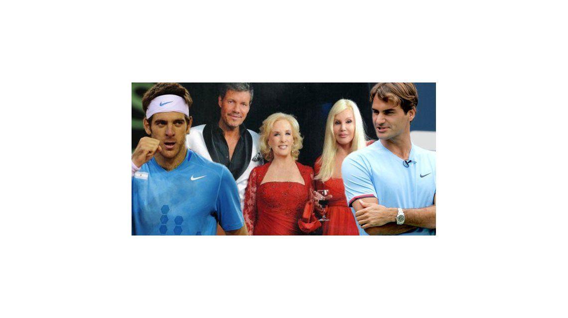 Mirtha, Tinelli y Susana, los invitados vip de Federer vs Del Potro