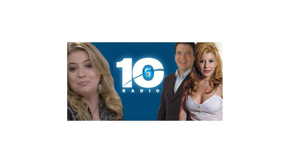 Carolina Papaleo, Gastón Recondo y Fernanda Carbonell, afuera de radio 10