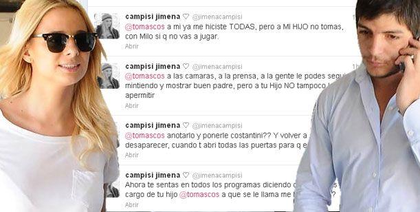 Campisi vs Costantini: Ella lo acusa de desaparecer y jugar con su hijo