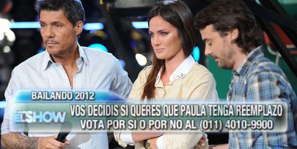 El público decidió que Paula Chaves sea reemplazada en el Bailando 2012