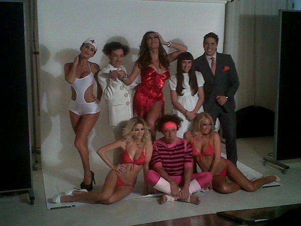 El backstage de la marquesina del espectáculo de Florencia de la V