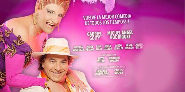 Goity y Miguel Rodríguez tienen su marquesina de La jaula de las locas