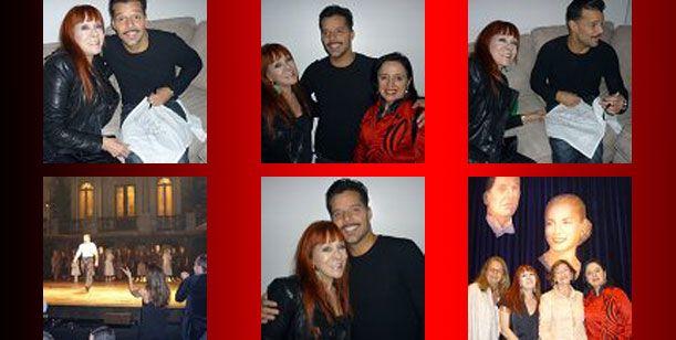Linda Peretz y Ricky Martin, juntos en Nueva York