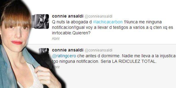 Connie Ansaldi: No recibí jamás ninguna notificación de Silvina Escudero