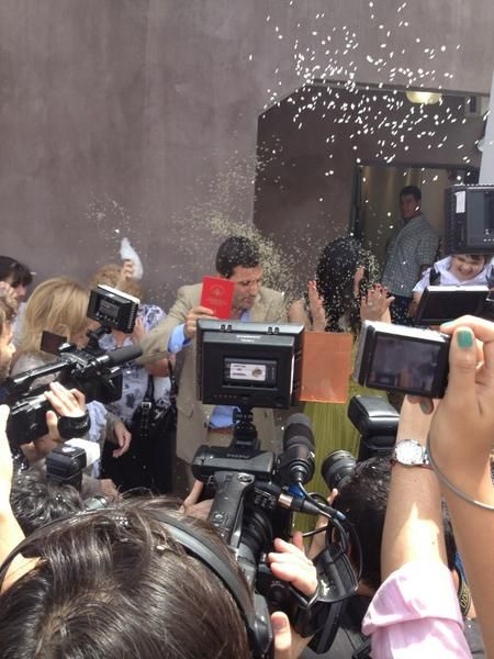 Se casaron José María Listorti y Mónica González por civil