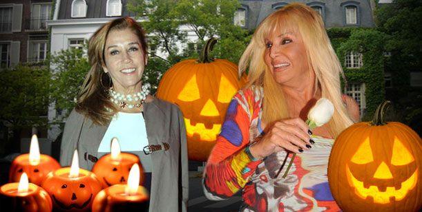 Susana se puso careta de bruja en Halloween en el cumple de Marcela Tinayre