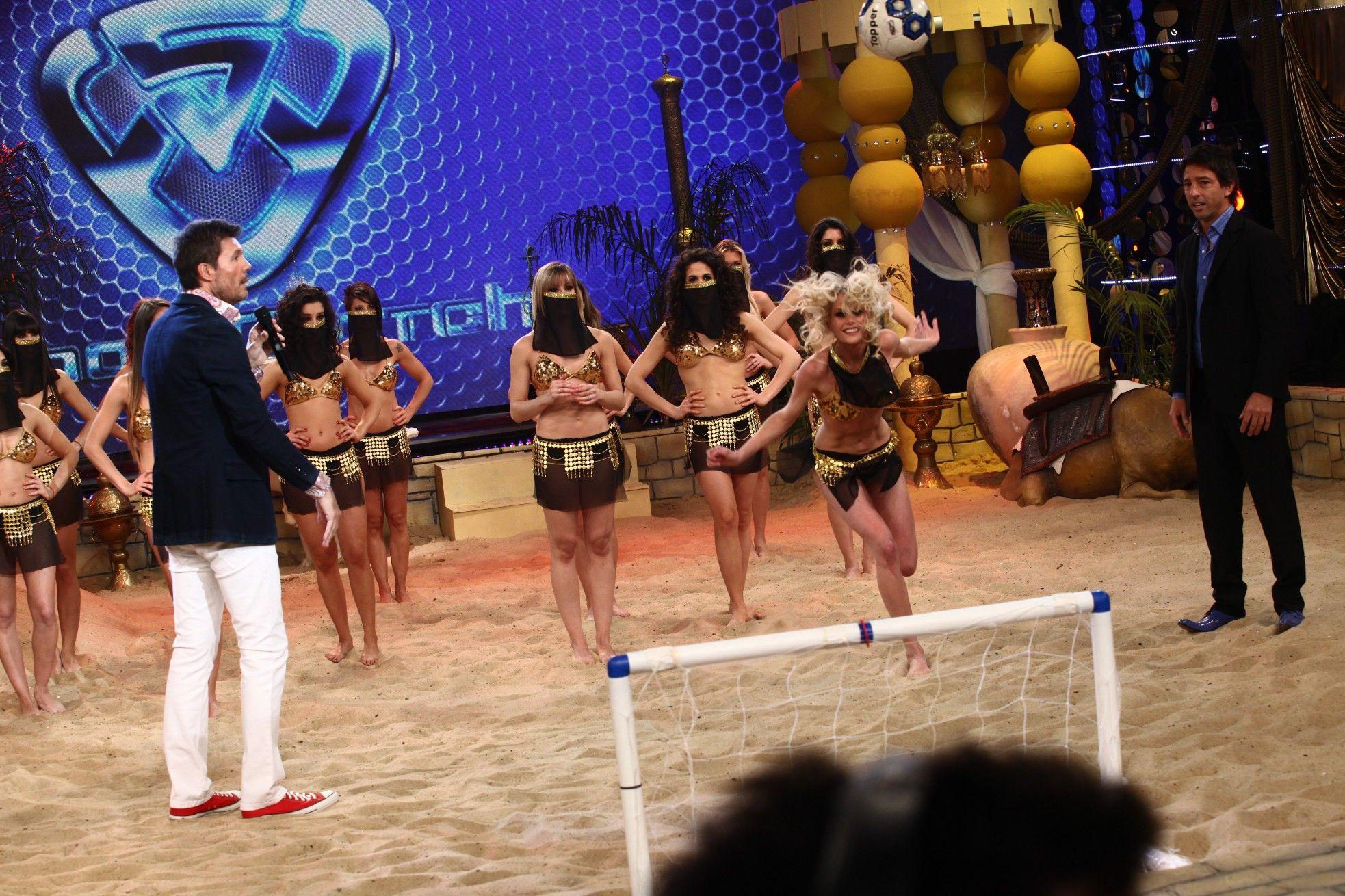 Showmatch con Alexander Caniggia x 2 y casi sin baile: la sueca fue la vedette