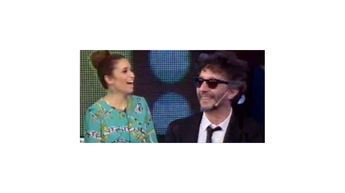 Fito Paéz en vivo en Duro de domar, junto a su novia Julia Mengolini