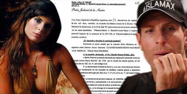 Exclusivo: Martín Palermo le ganó el juicio de divorcio a su ex mujer, Lorena Barrichi