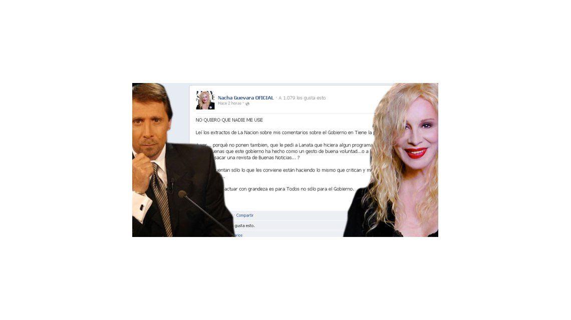 Medios: Feinmann furioso y Nacha feroz dice No quiero que me usen