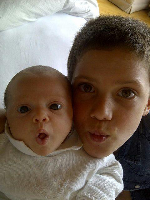 Pamela David y el álbum íntimo de Lola, su beba recién nacida y su hermanito Felipe