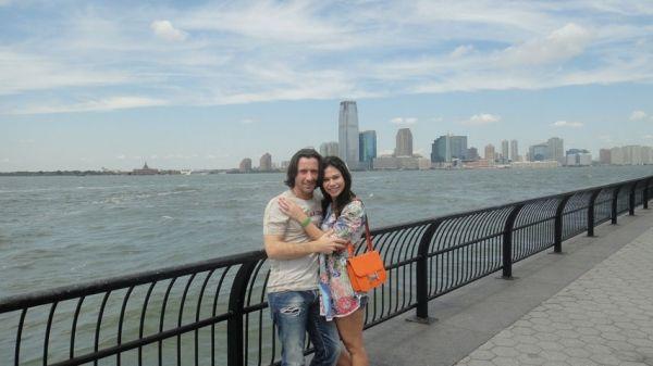 La nueva vida de Mariana de Melo, con su novio por las calles New York