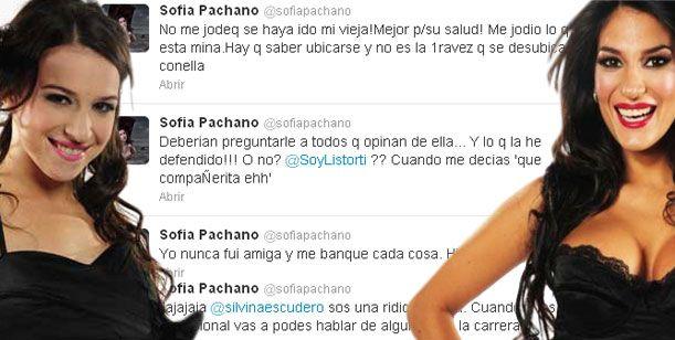En twitter, Sofía Pachano furiosa con Silvina Escudero: Sos una ridícula, flaca