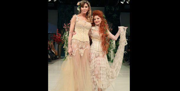 Guillermina Valdes fue la novia de un desfile, y el centro de todas las miradas