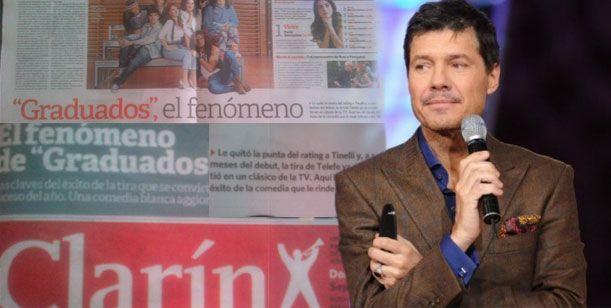 Marcelo Tinelli y el Diario Clarín, una historia de desencuentros