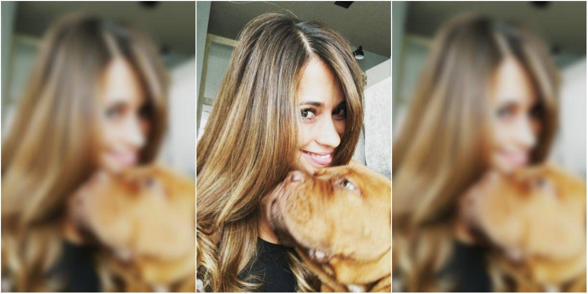 Anto Roccuzzo y su perro en Instagram