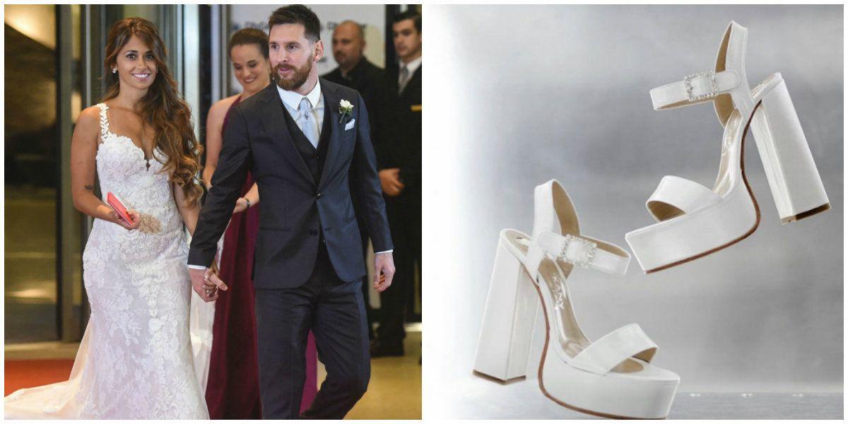 El detalle exclusivo en los zapatos de novia de Antonela Roccuzzo para el casamiento