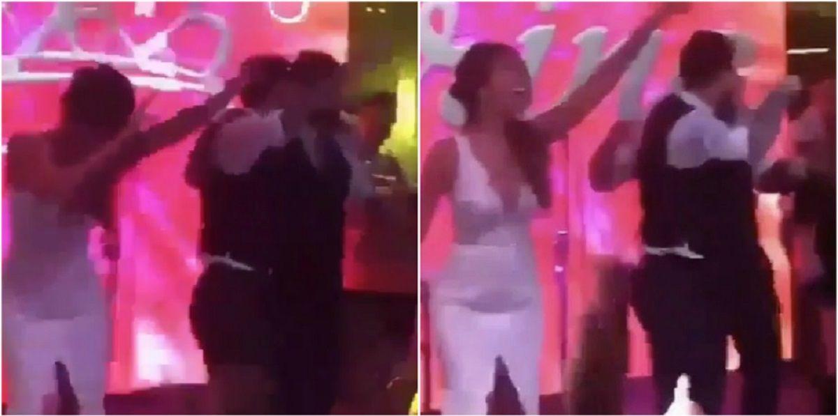 Karina La Princesita cantó en la boda del año