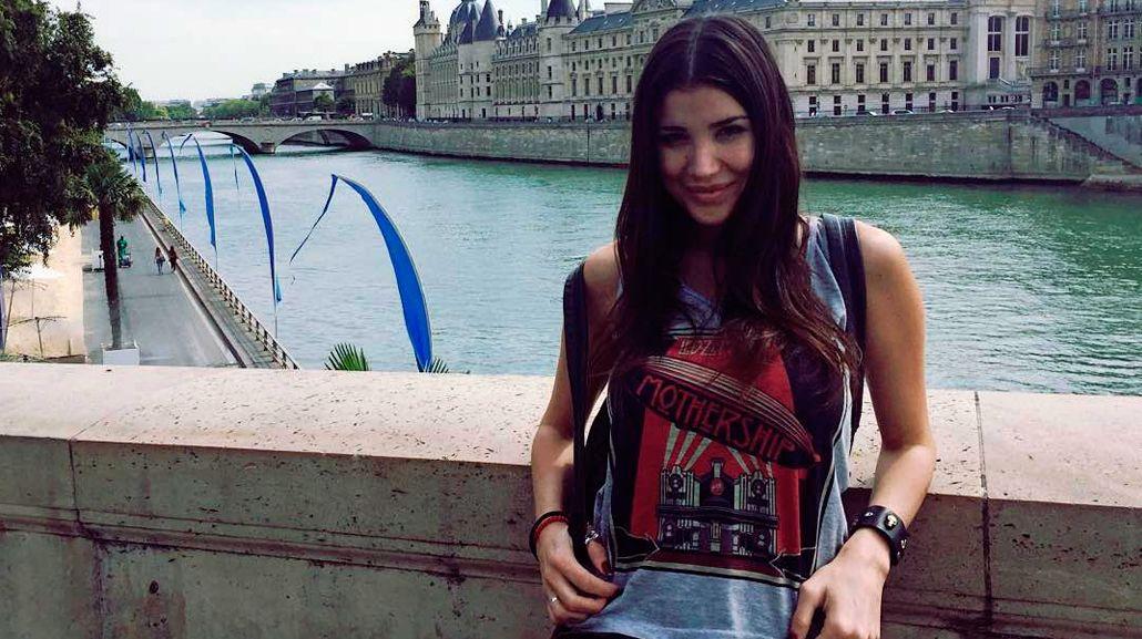 Andrea Rincón en su viaje por Europa