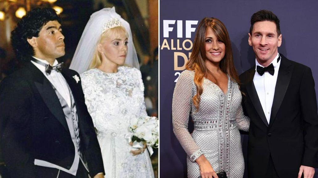 El casamiento de Diego Maradona y el de Lionel Messi