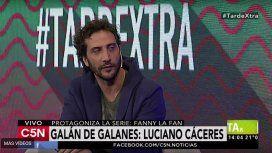 Luciano Cáceres, protagonista de  Fanny la fan, en C5N
