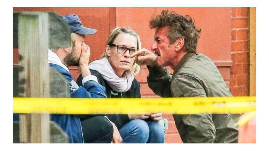 El ataque de furia de Sean Penn y el llanto de la actriz de House of Cards