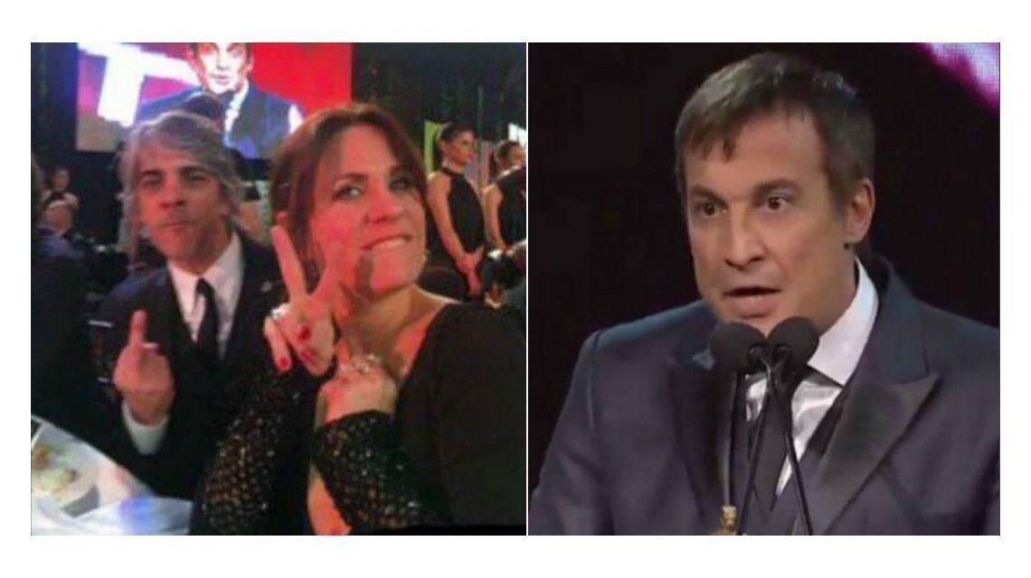 Pablo Echarri explicó la foto con Nancy Dupláa mientras hablaba Paulo Vilouta