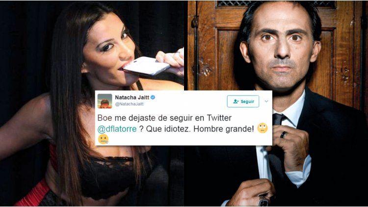 Diego Latorre dejó de seguir a Natacha Jaitt