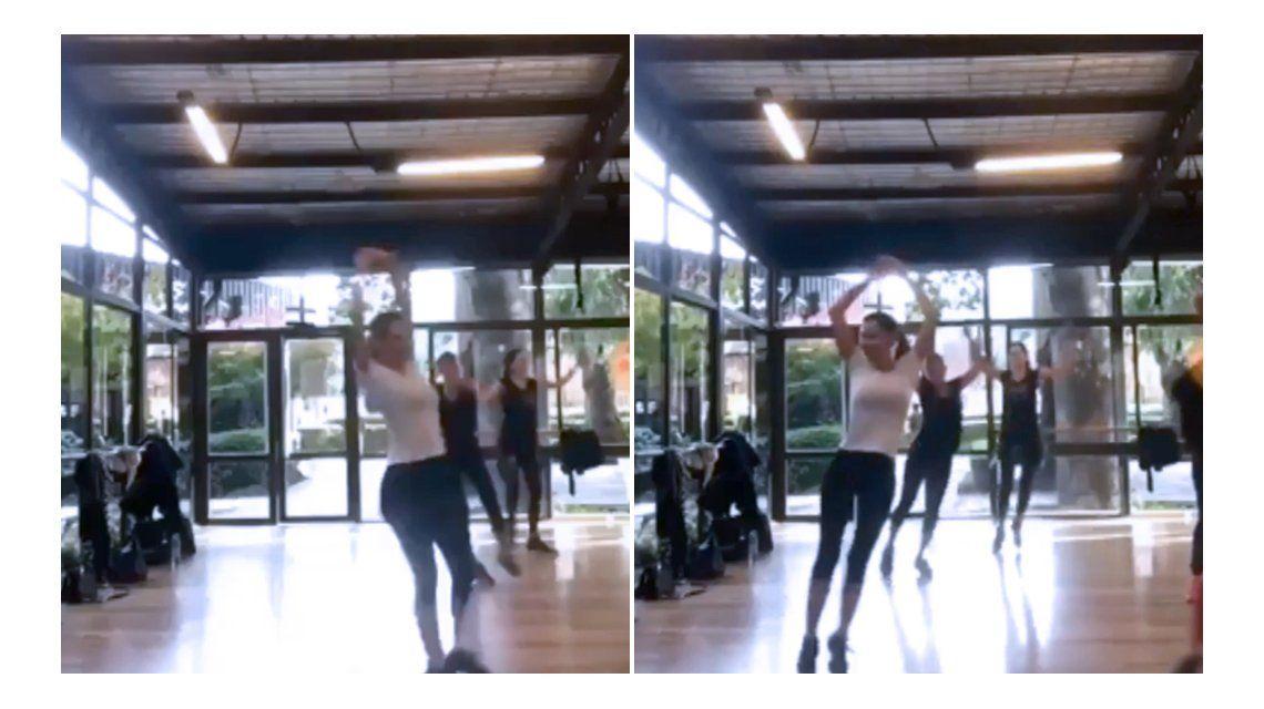 El baile sexy de Pampita