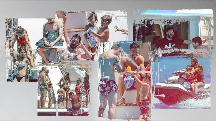 Messi y su familia se divierten en Ibiza antes de su casamiento.