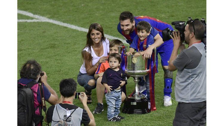 Lionel Messi y su familia