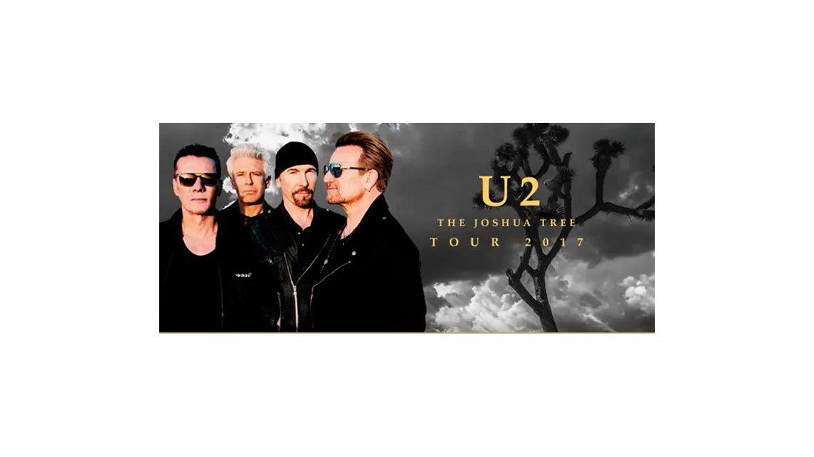 U2 tocará en La Plata en octubre de 2017