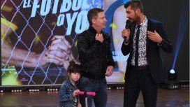 Adrián Suar en su última visita a Showmatch con Margarita. Foto: Jorge Luengo