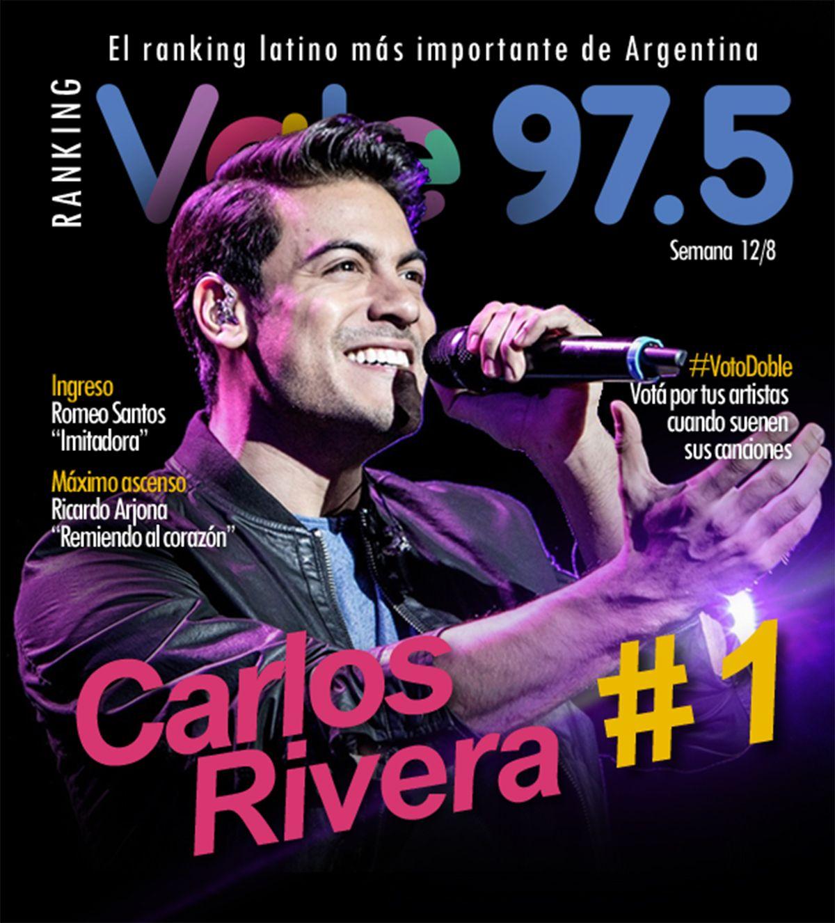Carlos Rivera y Gente de zona siguen en lo más alto del Ranking Vale