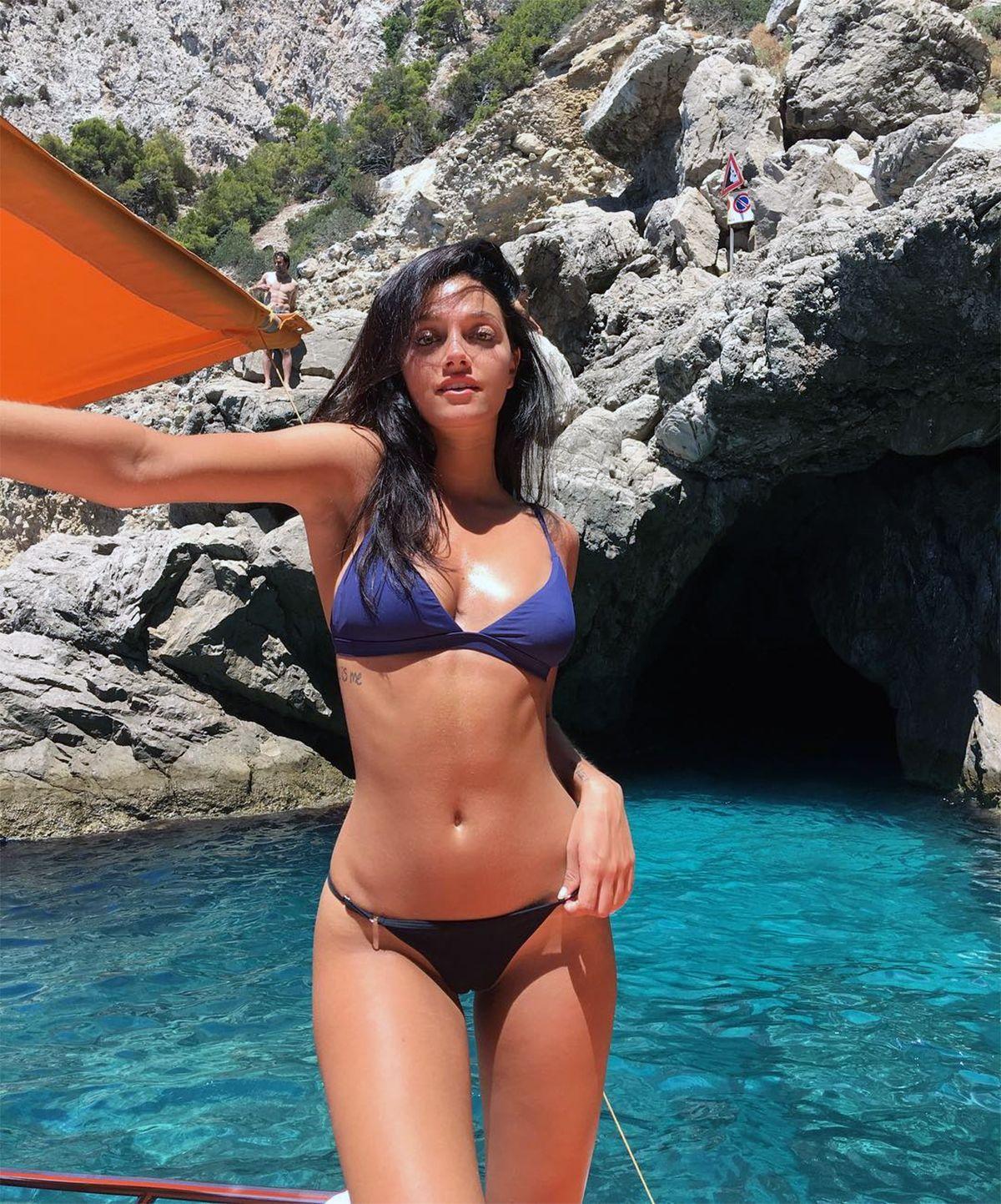 Oriana Sabatini se tatuó el nombre de su hurón Coco