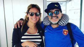 Diego Maradona y Rocío Oliva, juntos