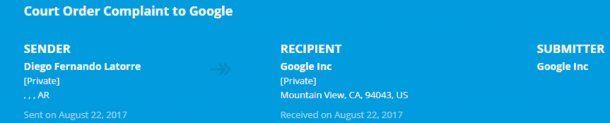 La demanda de Diego Latorre a Google<br>