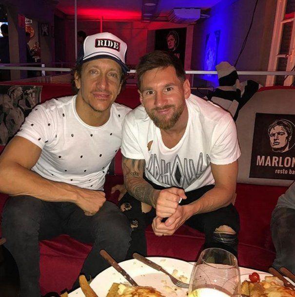 Nico Vázquez y Lionel Messi<br>