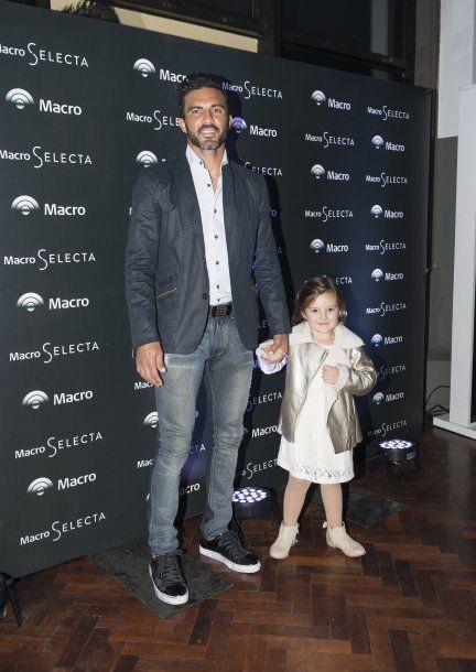 Fabián Cubero y su hija Sienna