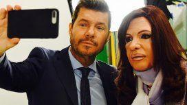 Martín Bossi interpretó a Cristina, y Tinelli la entrevistó