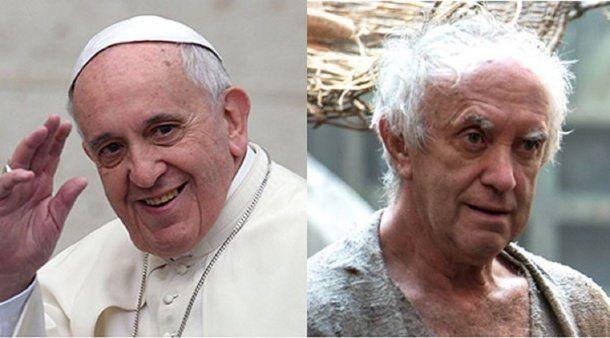 Jonathan Pryce, muy parecido al Papa en la personificación<br>