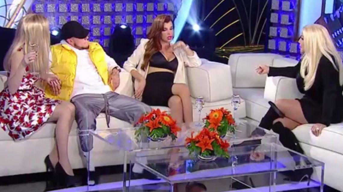 Susana Giménez con Charlotte Caniggia y Alexander Caniggia